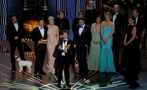 Hollywood premia a la nostalgia, The Artist triunfa en los Oscars 2012